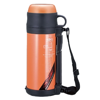 Thermos stainless steel bottle FDJ-1000 PRO (Pearl orange)