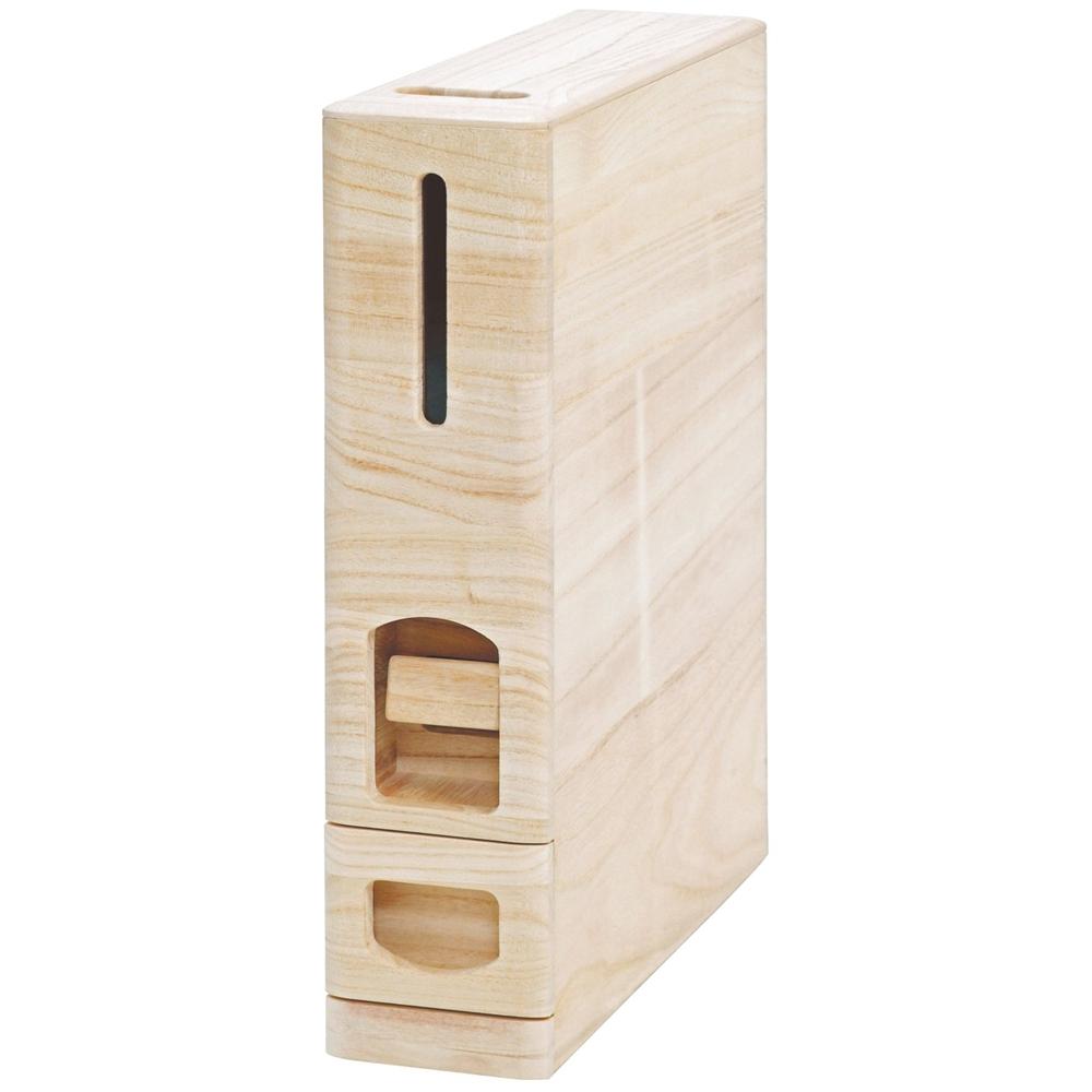 マッキンリー 無洗米兼用 米びつ 桐製 ライスボックス 6kg収納型 RW210/M 6kg収