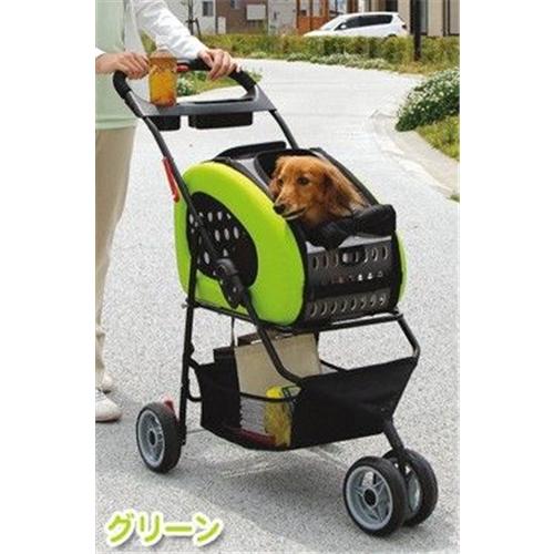アイリスオーヤマ 4WAYペットカート(犬・猫用 キャリーバッグ ) グリーン FPC-920
