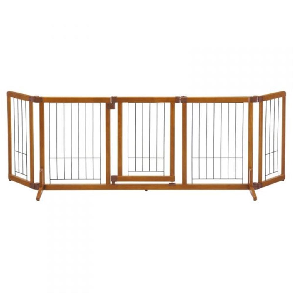 リッチェル 木製おくだけドア付ゲート L (自立タイプ) ブラウン 【○】
