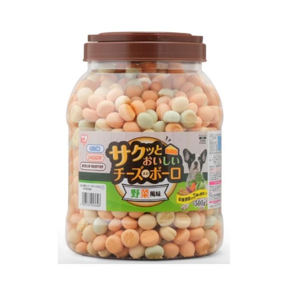 アイリスオーヤマ 犬用 サクッとおいしいチーズ入りボーロ アウトレット☆送料無料 野菜風味 本物 500g P-CBV500