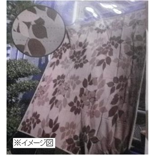 水勘製簾所 洋風タープ 日よけ 日本 目隠し 100×200cm リーフ柄 好評