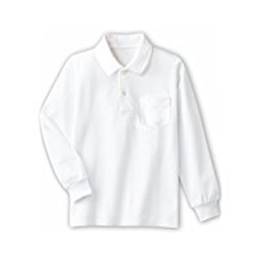 ベイリー 白色 学童ポシャツ VR1201-100 在庫一掃 100cm 長袖 送料無料カード決済可能