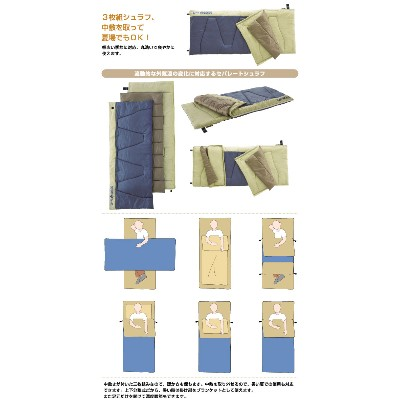 LOGOS logos sleeping bag sleeping bags neos 3 separators-6 72600050
