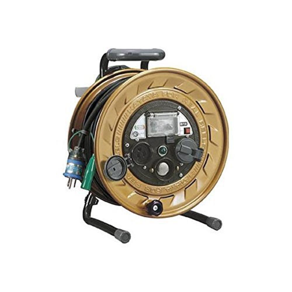 ハタヤリミテッド メタルセンサーリール 単相100V接地付 30m 接地抵抗可変式 MSB-301KVX