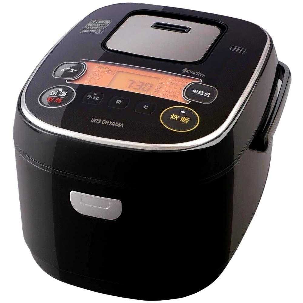 アイリスオーヤマ 米屋の旨み 銘柄炊き IHジャー炊飯器 5.5合 RC-IE50-B(ブラック)