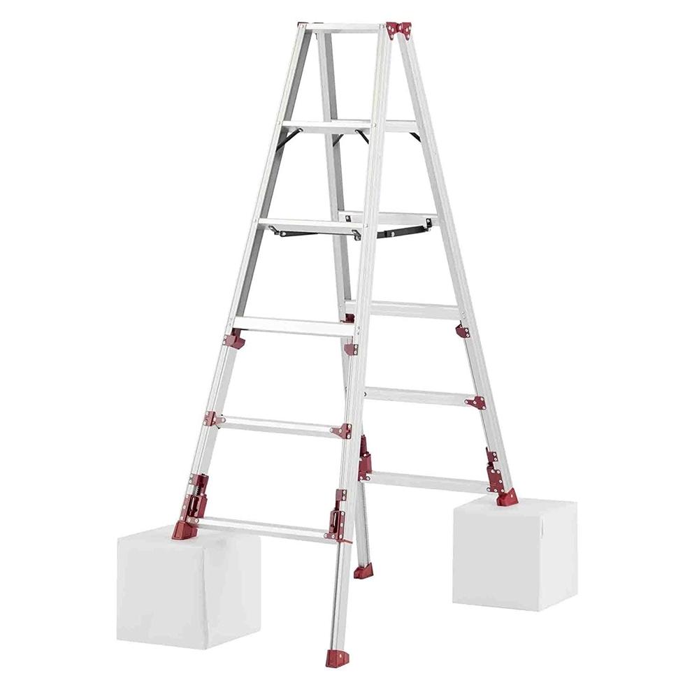 ピカコーポレイション アルミ四脚アジャスト式専用脚立 高さ伸縮 1.53~1.84m SXJ-180 【〇】