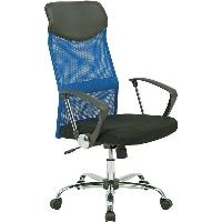 不二貿易 メッシュハイバックチェアー HFー98BL ブルー 椅子 HF-98BL