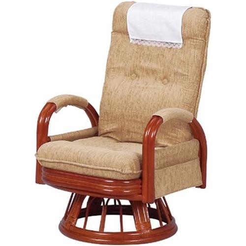 萩原 籐ギア回転座椅子 RZ-973HI