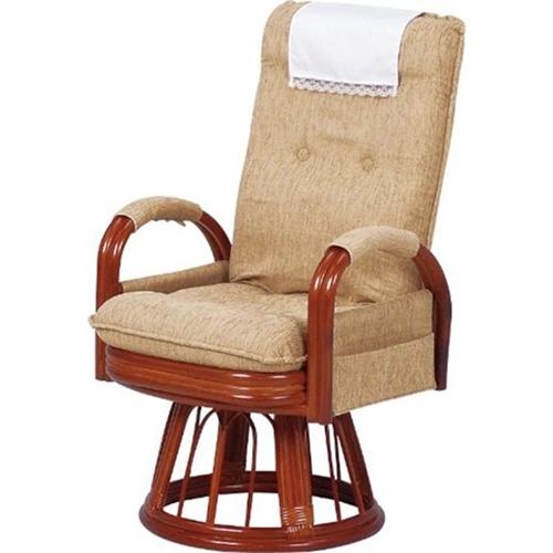 萩原 籐ギア回転座椅子 RZ-974HI