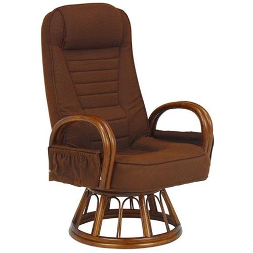 萩原 籐ギア付回転座椅子 RZ-1257BR
