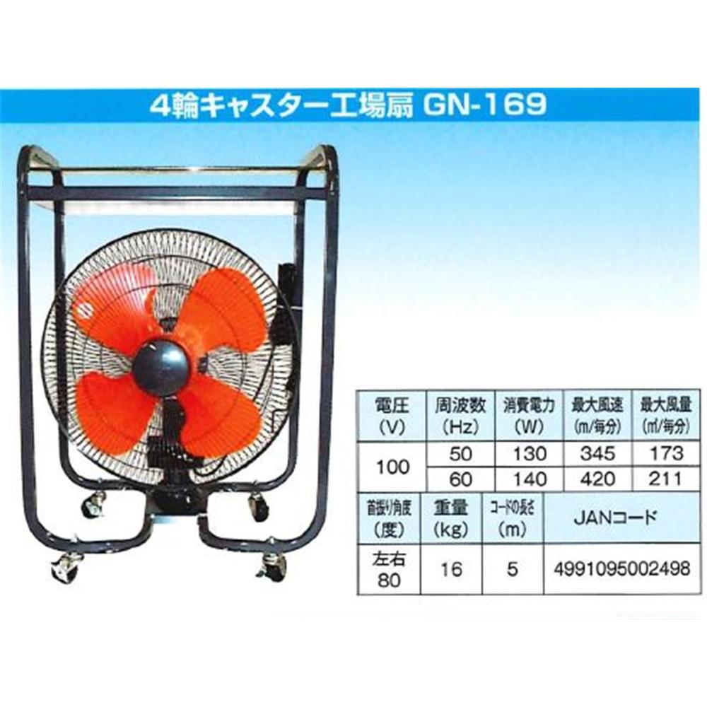 岐南商事 4輪キャスター工場扇 GN-169 【○】