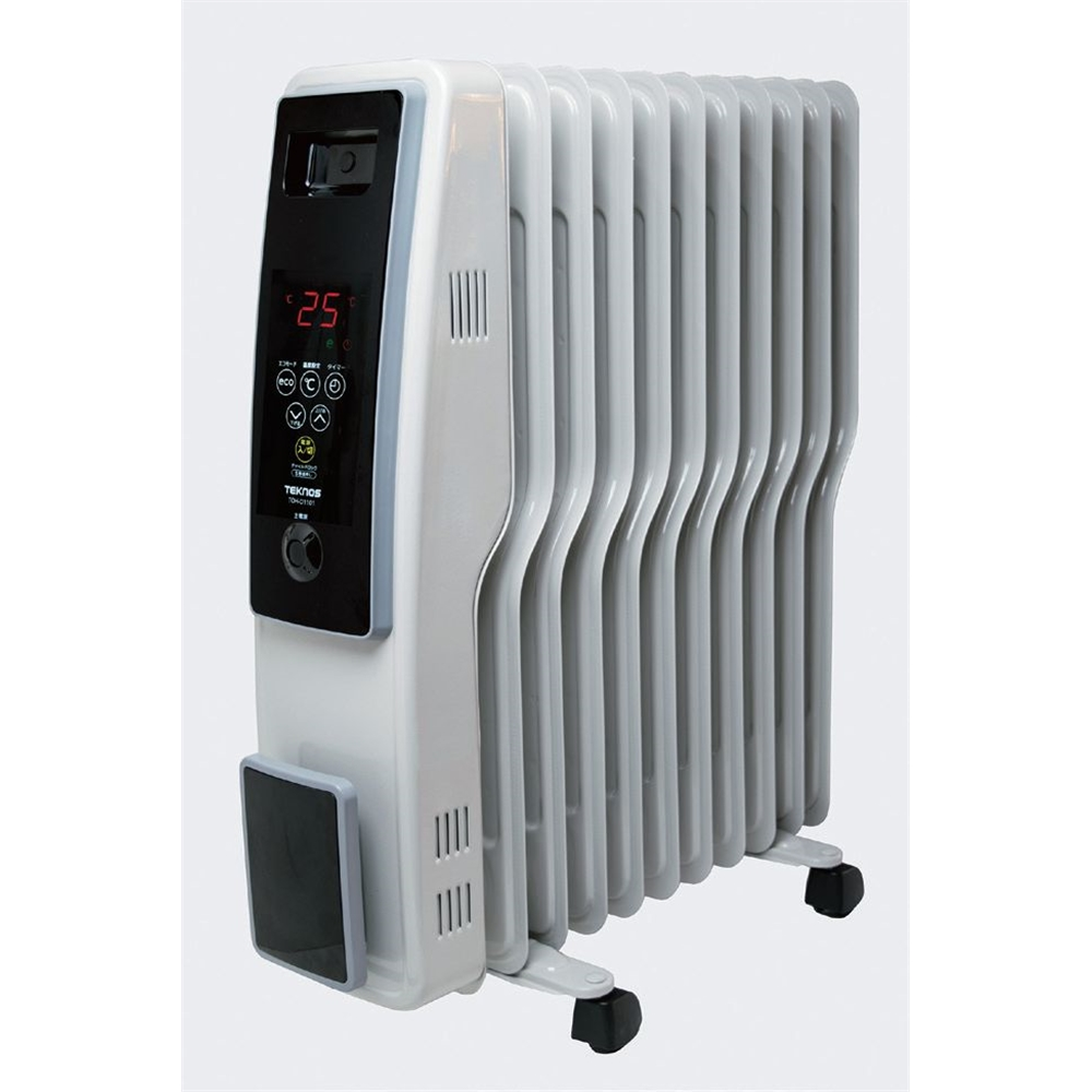 TEKNOS テクノス オイルヒーター(デジタル表示) 1200W グレイッシュホワイト TOH-D1101