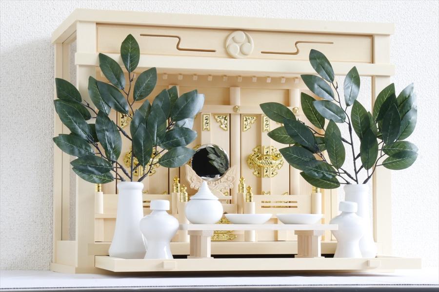 匠造り ■ 箱宮 ■ 飾り欄間 巴紋 ともえ ■ 18号 ■ 最高の檜葉材 三社 神棚セット ■ 三面ガラス 引出し付