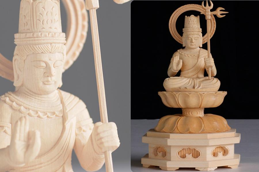 仏像 2寸 ■ 十二支守本尊 ■ 丑 寅 うし とら ■ 虚空蔵菩薩 ■ 守り本尊 ■ 丑年 寅年 ■