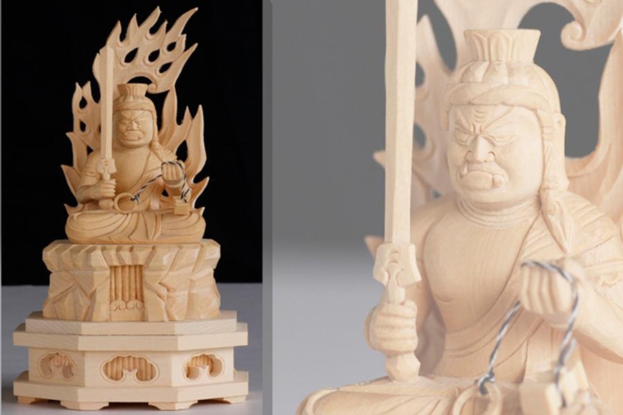 仏像 2寸 ■ 十二支守本尊 ■ 酉 とり ■ 不動明王 ■ 守り本尊 ■ 酉年 ■