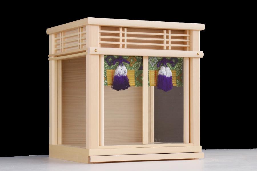 三社箱宮 ~ 本殿と末社 ~ 御簾の美しい 神棚用 三面 ガラスケース