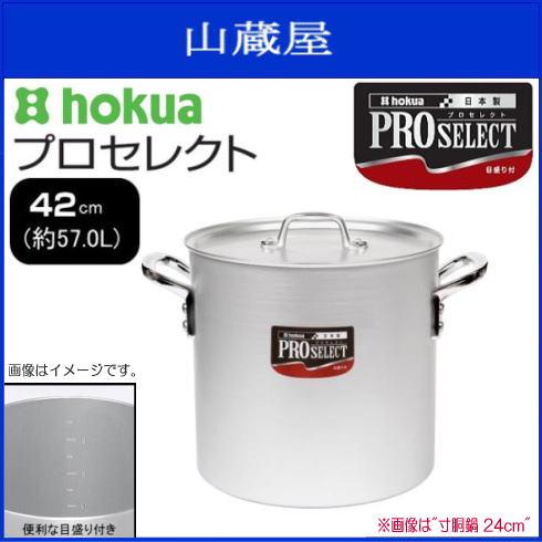 北陸アルミ プロセレクト 寸胴鍋42cm 使いやすさと確かな品質で、味の業に応える目盛付シリーズ《北海道、沖縄、離島は別途、送料がかかります。》《代引き不可》