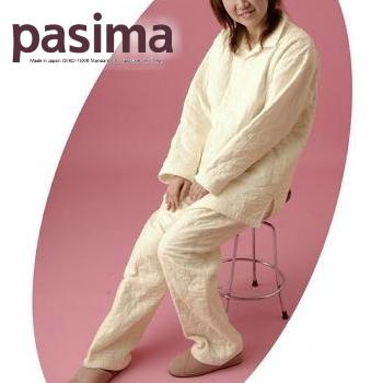 パシーマ パジャマ 襟付き 長そで 長袖 SS きなり龍宮 日本製 エコテックス