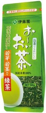 【お買得品】伊藤園 お~いお茶 若芽・若茎入り緑茶 100g×10袋入【HLS_DU】