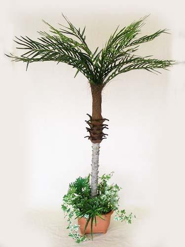 人工観葉植物 大型 フェニックスパームツリー 105cm BT-0109S ヤシ 造花 フェイクグリーン CT触媒 snb