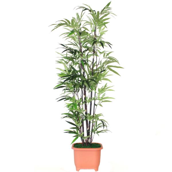 人工観葉植物 大型 エレガントバンブー 黒竹 180cm TKD 造花 フェイクグリーン CT触媒 snb
