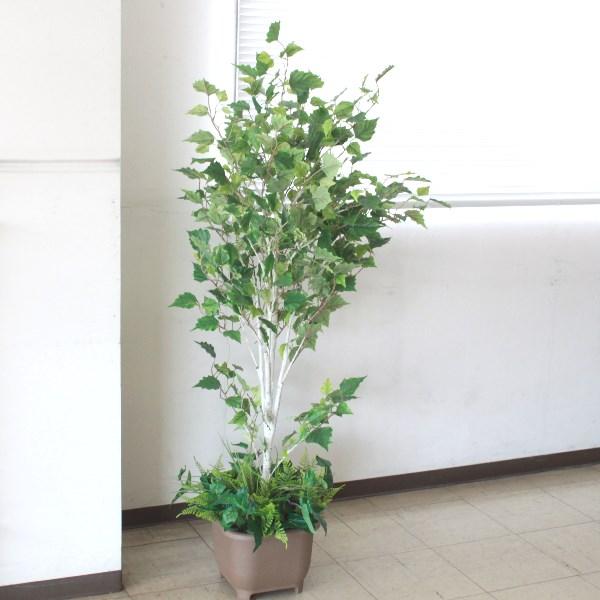 フェイクグリーン 大型 シラカバ 120cm TB1823 造花 観葉植物 シルクフラワー CT触媒 snb