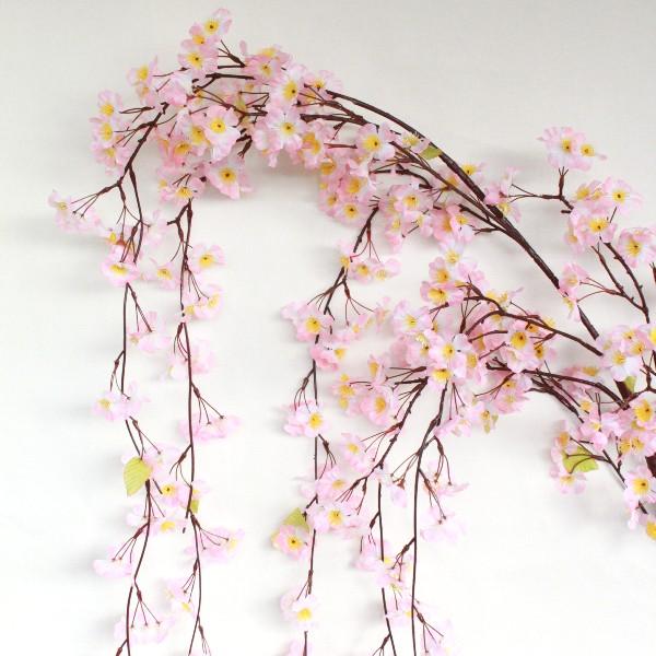 桜 造花 しだれ桜の大枝 特大 225cm 12本入 桜 枝 さくら 木 造花 FLS-5173 ディスプレイ