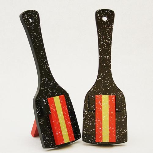 レインボースペシャル(よさこい鳴子)黒台-赤・金メタリック・赤角取り仕上げ10組セット