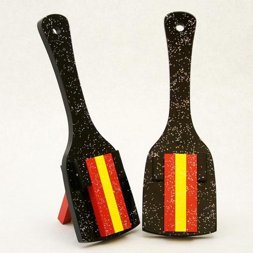 レインボースペシャル(よさこい鳴子)黒台-赤・黄・赤角取り仕上げ10組セット