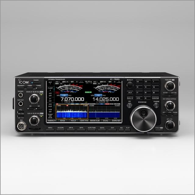 アイコム(ICOM) IC-7610 HF+ 50MHz(SSB/CW/RTTY/PSK31・63/AM/FM)100Wトランシーバー