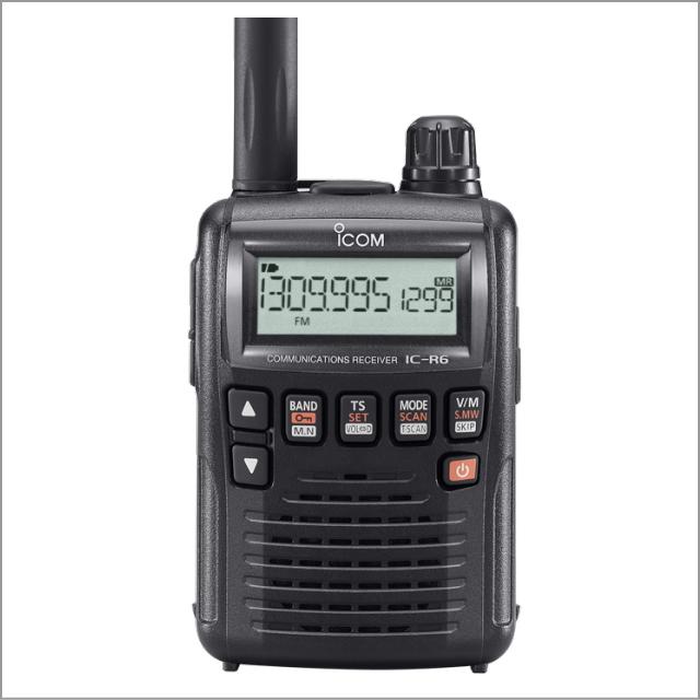 アイコム(ICOM) IC-R6 ブラック 広帯域ハンディ受信機 イヤホンプレゼント