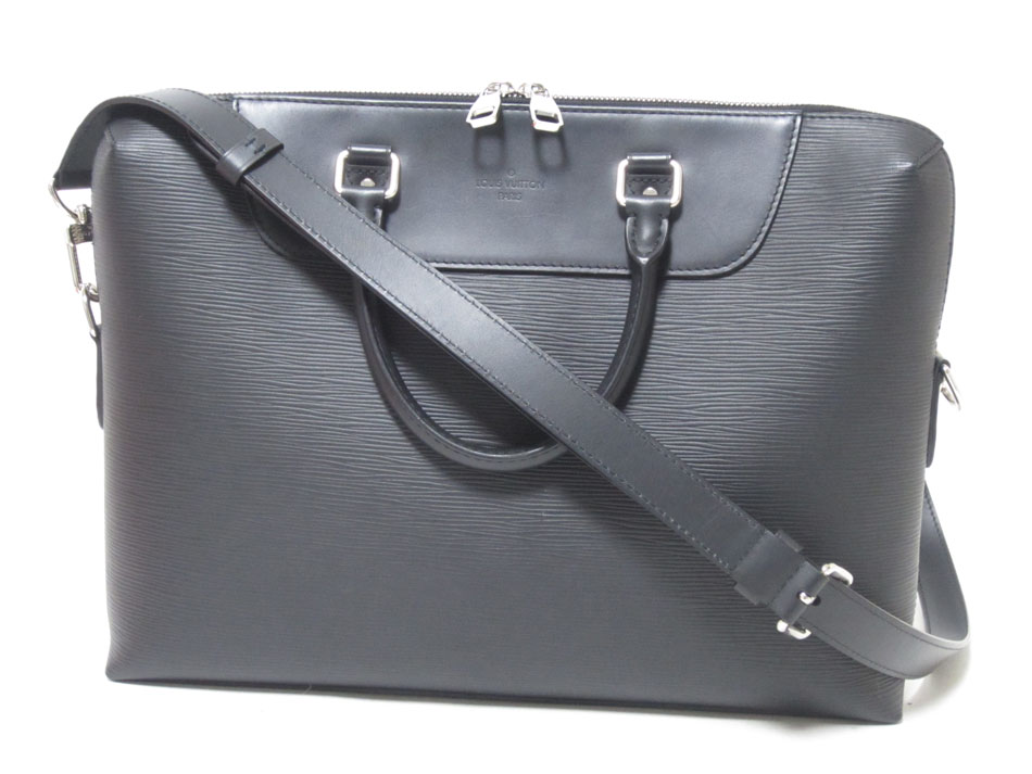 LOUIS VUITTON ルイウ゛ィトン エピ PDJ ビジネスバッグ ハンドバッグ ブリーフケース メンズ ノワール ブラック N50163 美品【中古】