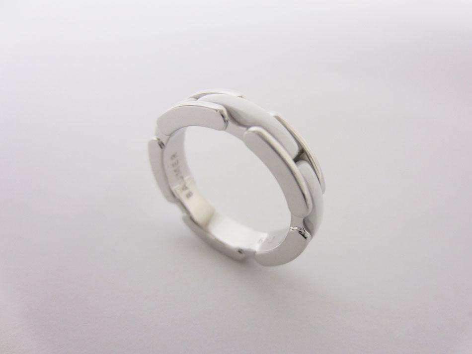 CHANEL シャネル ミニ ウルトラリング 指輪 ホワイトセラミック 750 K18 WG ホワイトゴールド 49 新品仕上げ【中古】