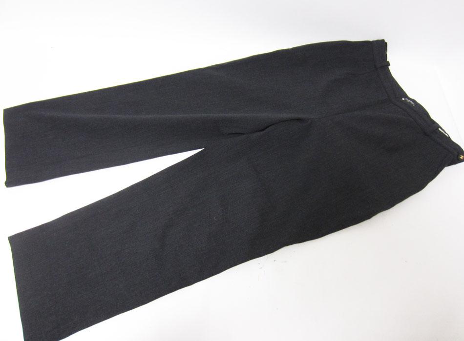 CHANEL シャネル レディース パンツ ズボン ボトムス グレー ブラックボタン 42 ヴィンテージ【中古】