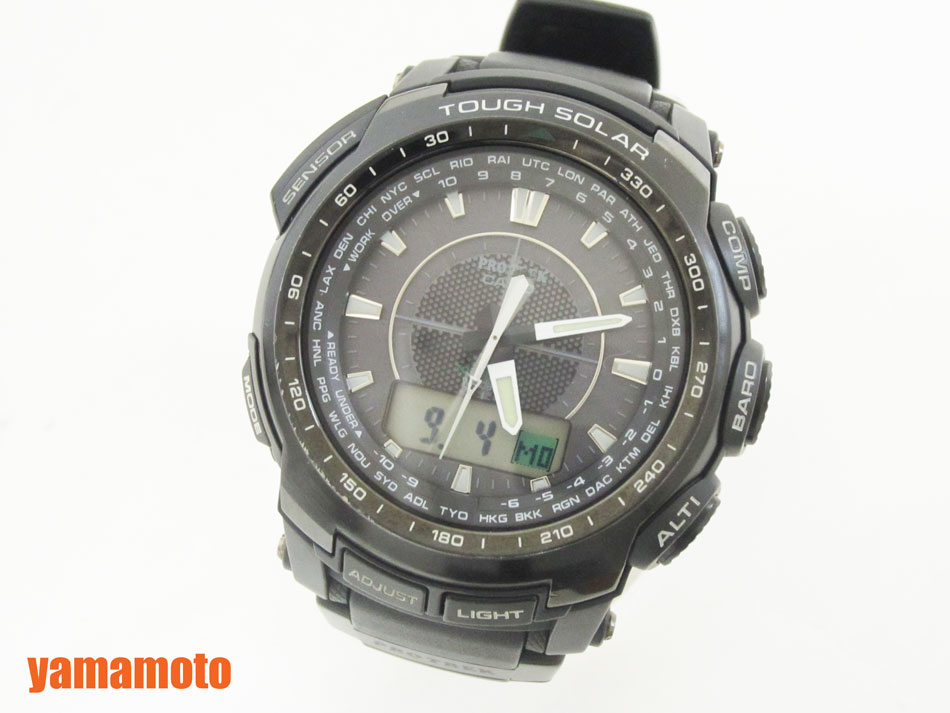 CASIO カシオ PROTREK プロトレック メンズウォッチ ソーラー電波 腕時計 PRW-5100-1JF 美品【中古】