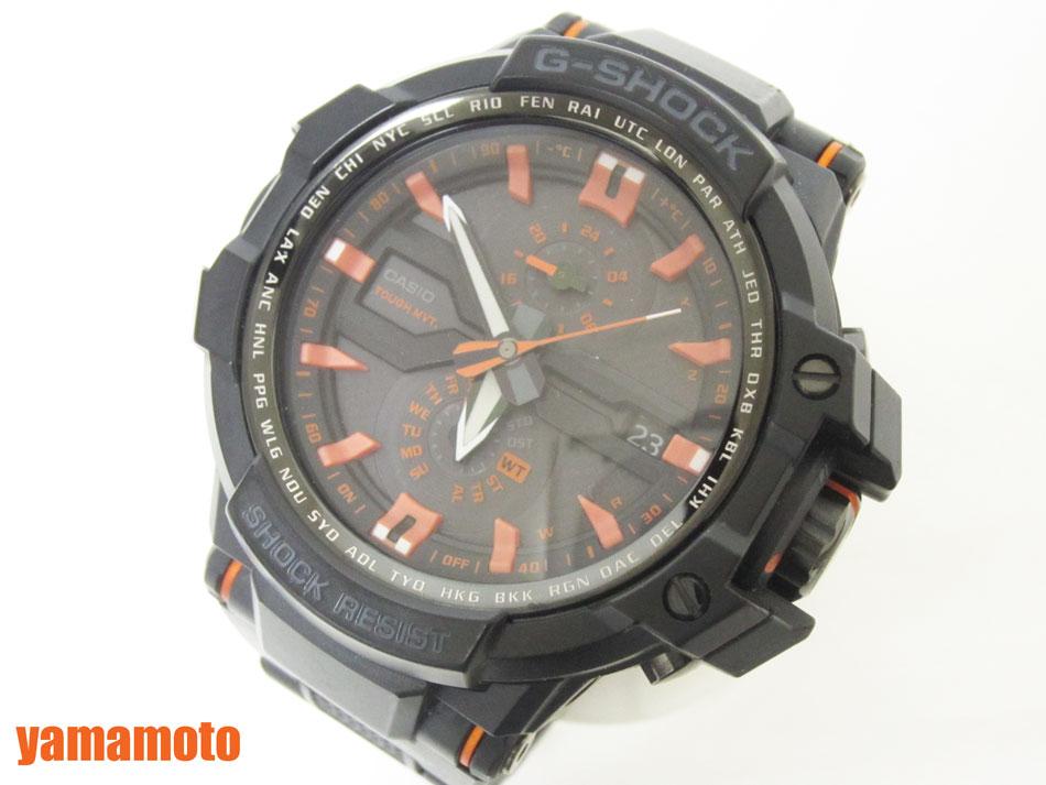 CASIO カシオ G-SHOCK Gショック SKYCOCKPIT スカイコックピット 腕時計 メンズウォッチ タフソーラー GW-A1000FC-1A4JF 美品【中古】