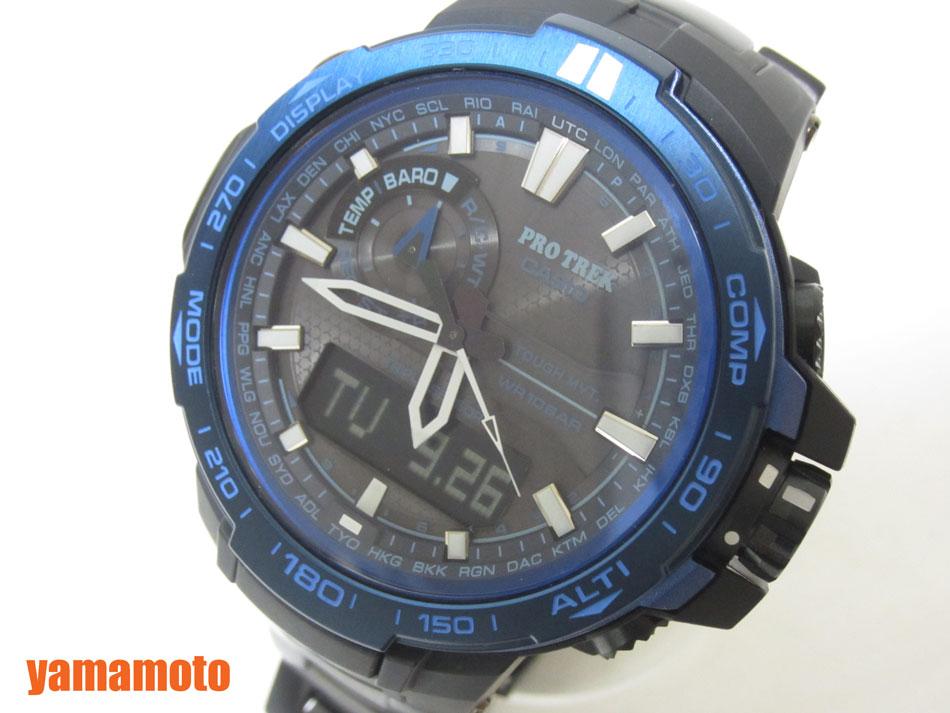 CASIO カシオ PROTREK プロトレック トリプルセンサー タフソーラー 電波 腕時計 メンズウォッチ PRW-6000SYT-1JF 新品同様【中古】