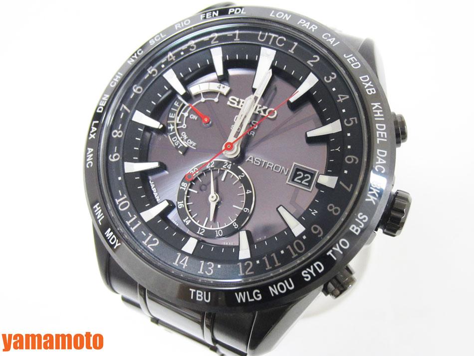 6c2ad17c7c SEIKOセイコーASTRONアストロンメンズウォッチGPS電波腕時計セラミックチタンブラックSBXA0477X52-0AN0美