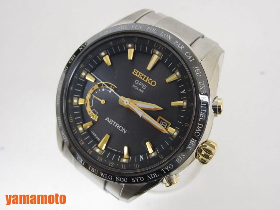 SEIKO セイコー ASTRON アストロン メンズウォッチ 腕時計 ソーラーGPS衛星電波 ブラック ゴールド SBXB087 未使用品 【中古】