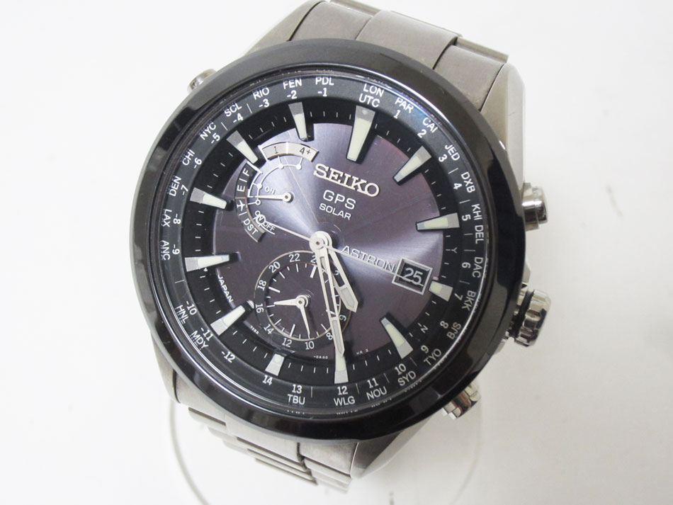 SEIKO セイコー ASTRON アストロン メンズウォッチ 授与 GPS電波 チタン 税込 腕時計 セラミック 7X52-0AA0 中古