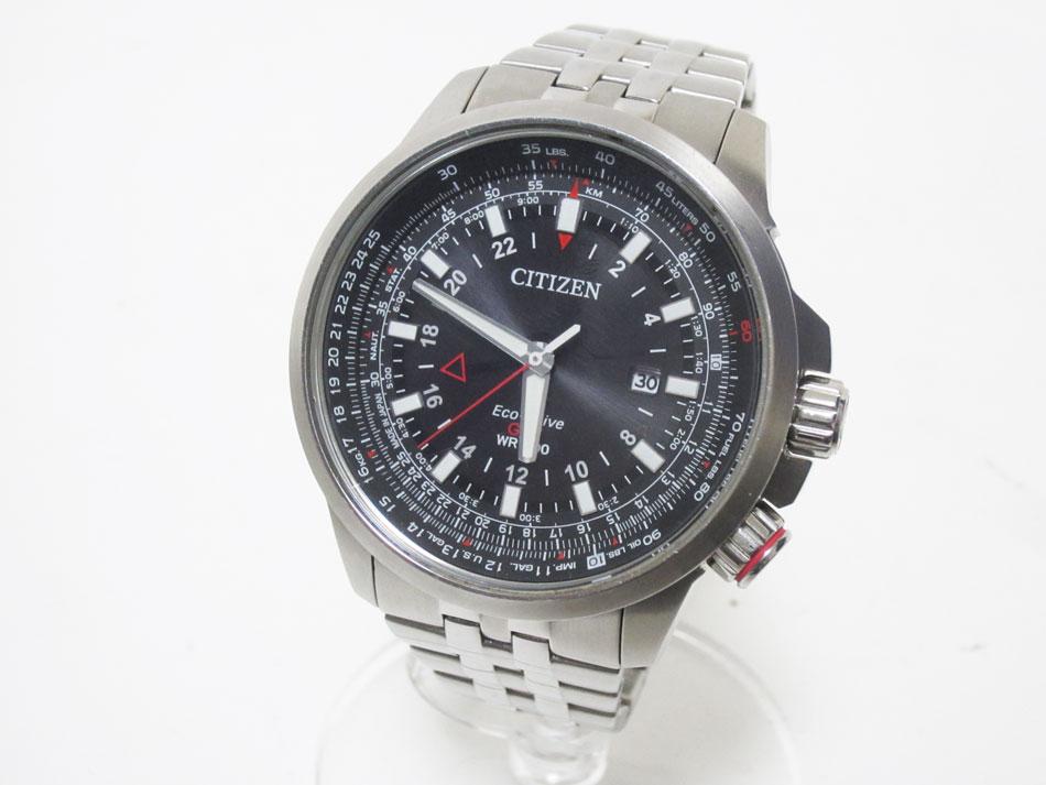 CITIZEN シチズン PROMASTER プロマスター エコドライブ ナイトホーク メンズウォッチ 腕時計 GMT B877-R005651 【中古】