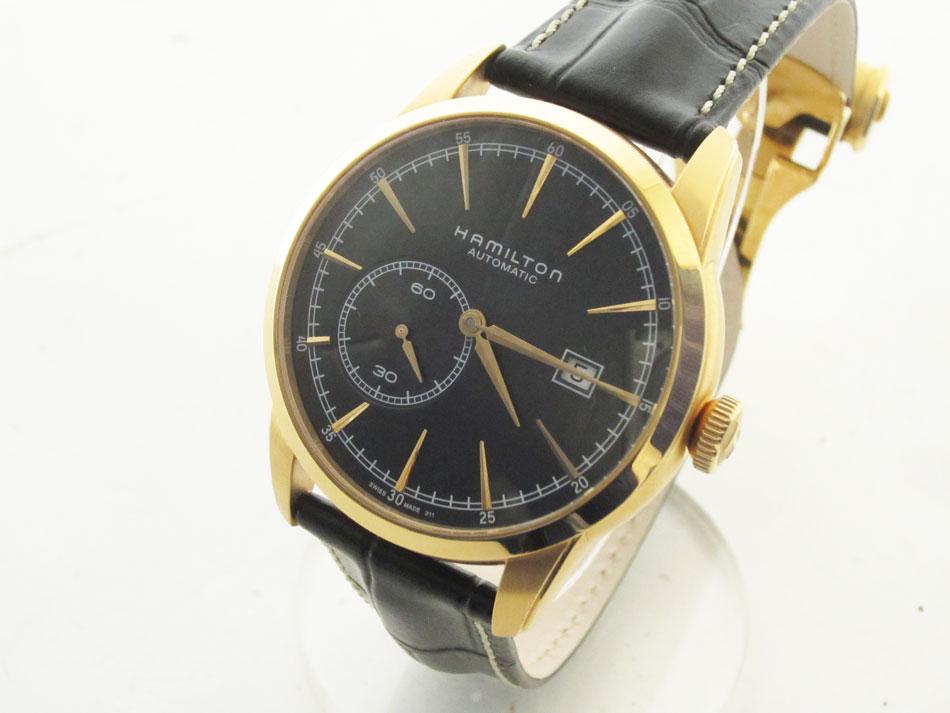 HAMILTON ハミルトン メンズウォッチ 腕時計 レイルロード スモールセコンド 自動巻き AT 裏スケ H405450 超美品【中古】