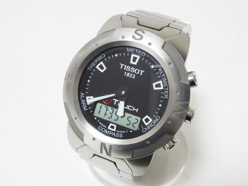 TISSOT ティソ Tタッチ TTOUCH 腕時計 メンズウォッチ ステンレス デジアナ TKQ-OR-79500 Z251/351-1 【中古】