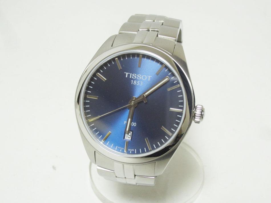 TISSOT ティソ PR100 腕時計 メンズウォッチ 最安値 格安 ステンレス ブルー文字盤 新品同様 T101410 中古