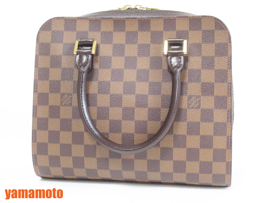 LOUIS VUITTON ルイウ゛ィトン ダミエ トリアナ ハンドバッグ N51155 超美品【中古】