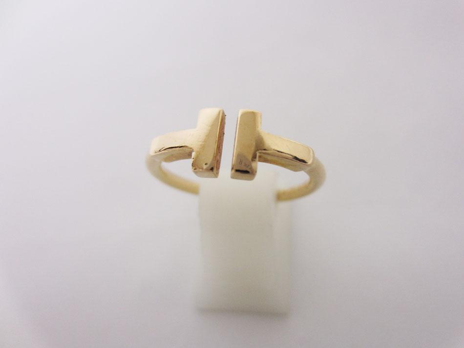 TIFFANY&CO. Tiffany ティファニー Tスクエア リング 指輪 Tワイヤー 750 K18 PG ピンクゴールド 8.5号【中古】