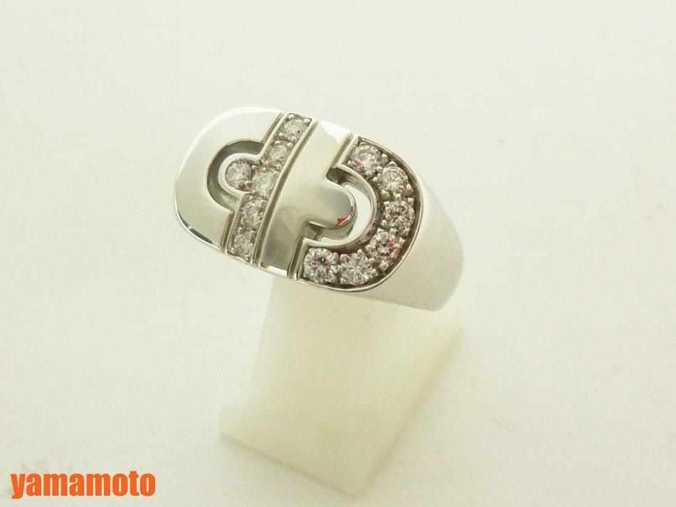 ブルガリ パレンテシ リング 指輪 ダイヤ 750 K18 WG ホワイトゴールド 美品 #9 美品【中古】