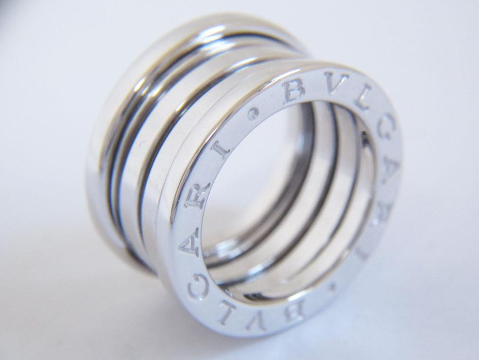 BVLGARI ブルガリ B-zero1 ビーゼロワン リング 指輪 750 WG K18 ホワイトゴールド 3バンド 48 美品【中古】