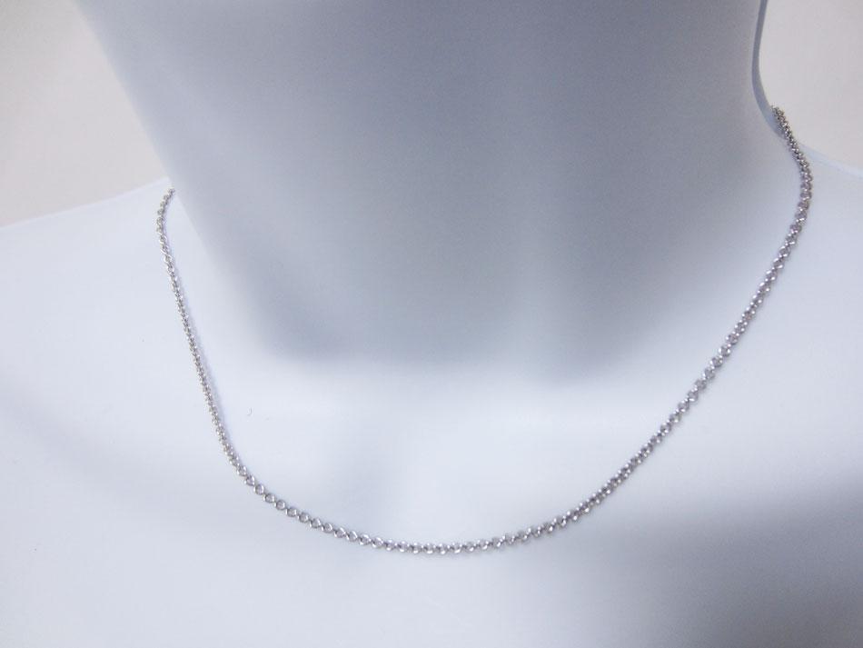 BVLGARI ブルガリ ネックレス チェーン 750 K18 WG ホワイトゴールド 40cm 美品【中古】